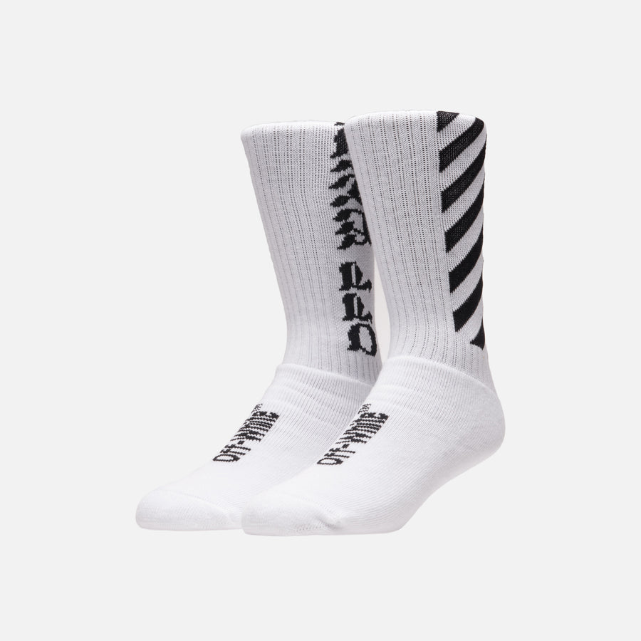Off-White Diagonal Socks - White / Black