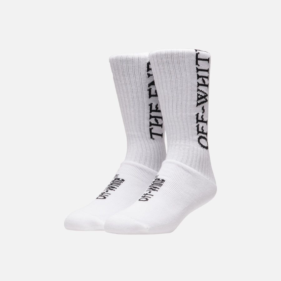 Off-White The End Socks - White / Black