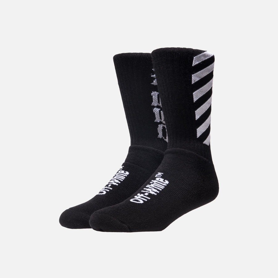 Off-White Diagonal Socks - Black