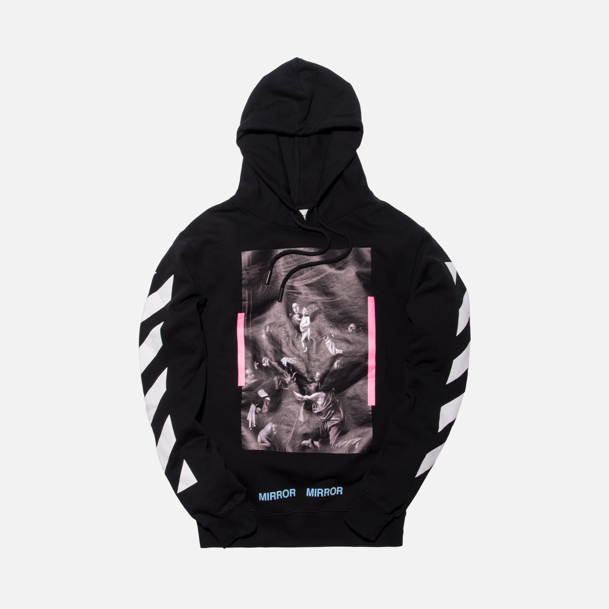 Off-White Diagonal Caravaggio Hoodie - Black