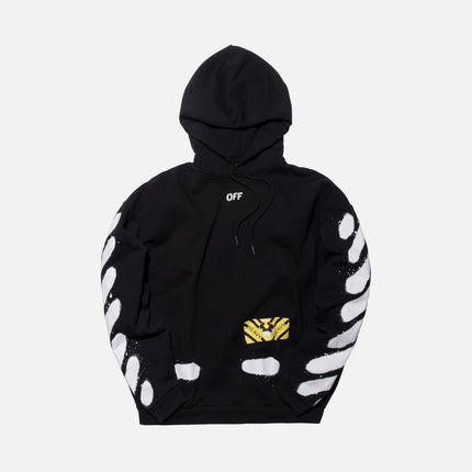 Off-White Diagonal Spray Hoodie - Black