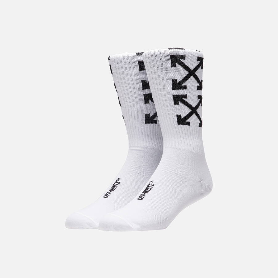 Off-White Arrows Socks - White / Black
