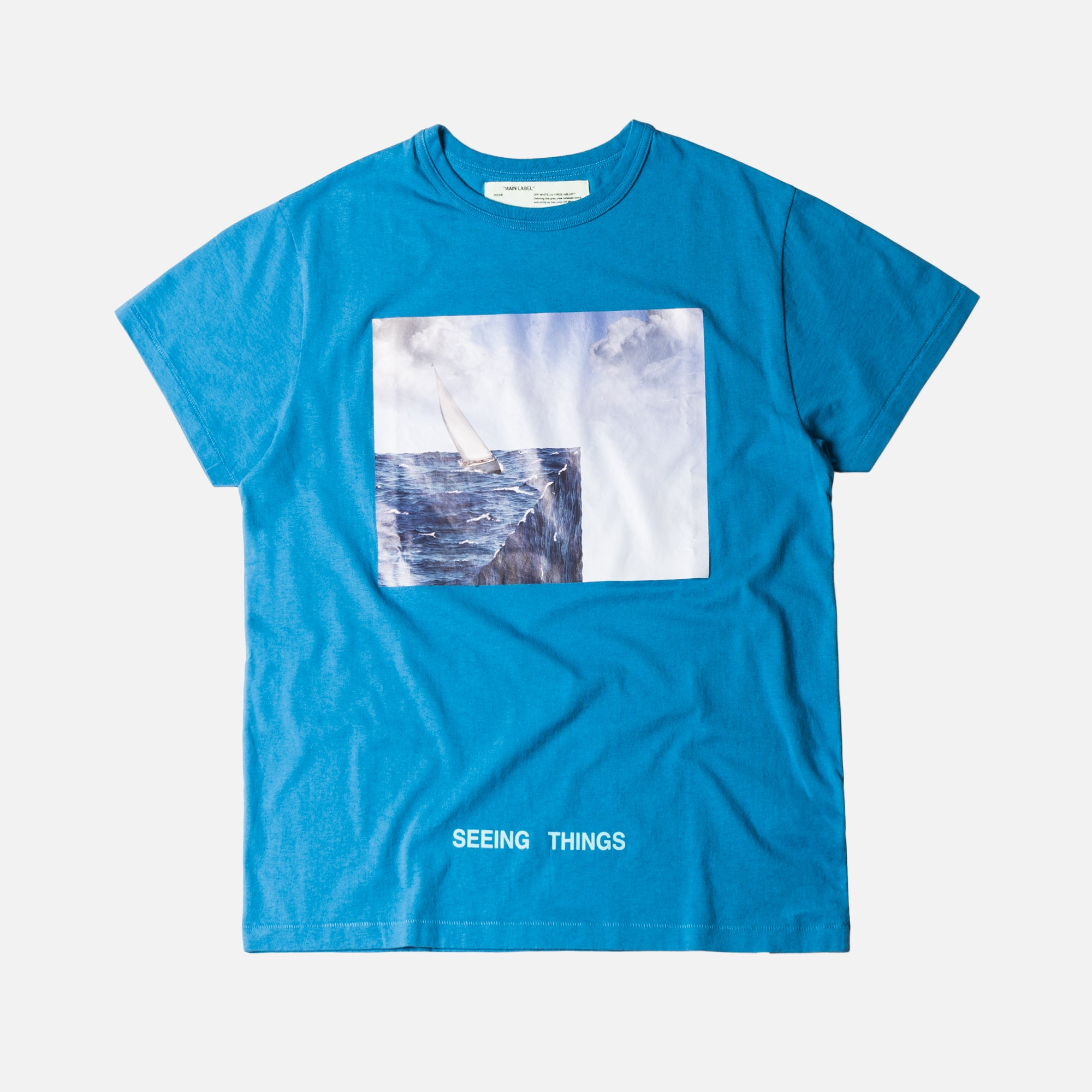 Off-White Sea Tee - Light Blue / Multi