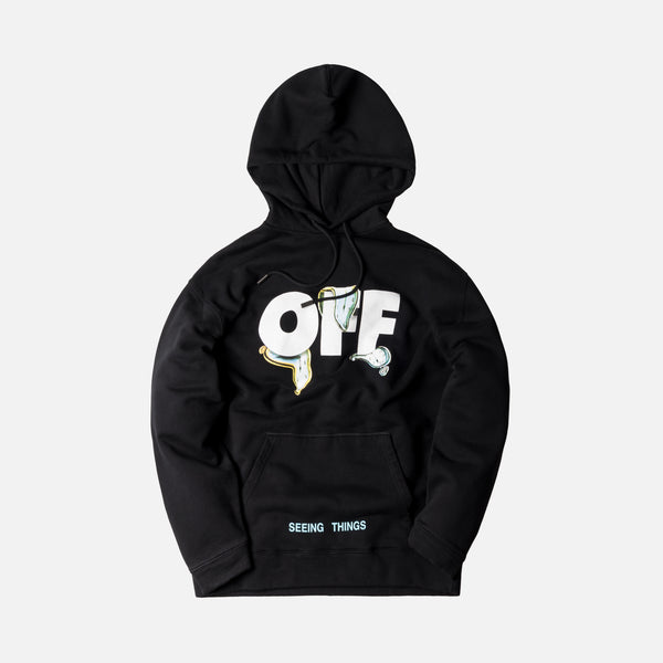 Off-White Watches Over Hoodie - Black / Multi