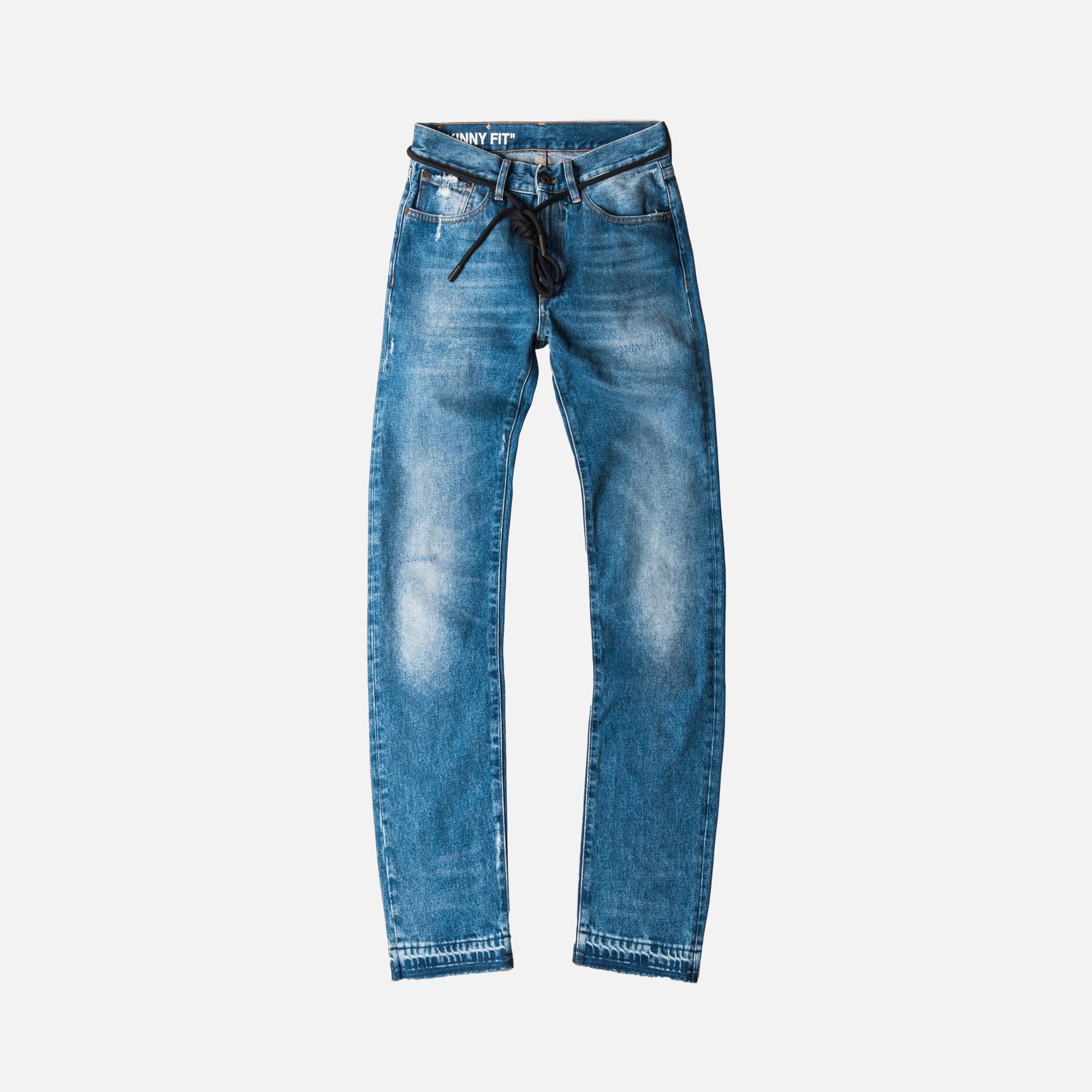 Off-White Diags Window Skinny 5-Pocket Denim Pant - Vintage Wash