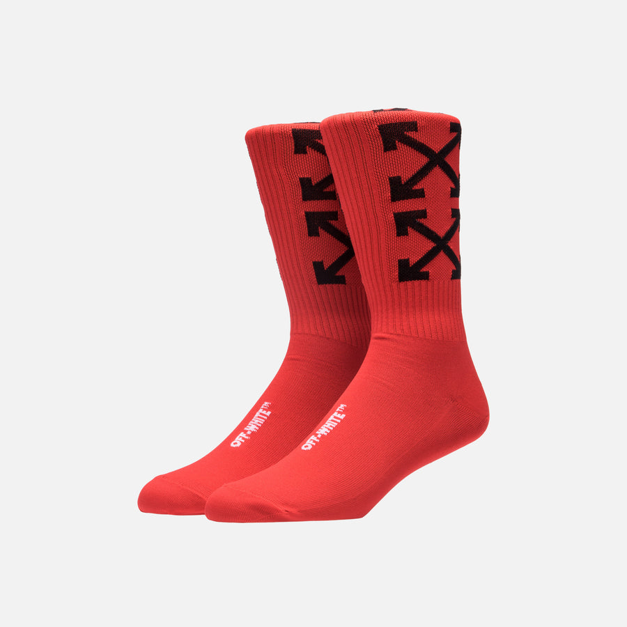 Off-White Arrows Socks - Red / Black