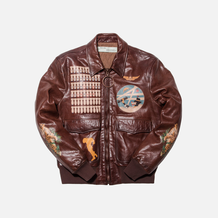 Off-White Aviator Bomber - Brown