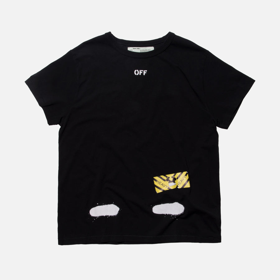 Off-White Diagonal Spray Tee - Black