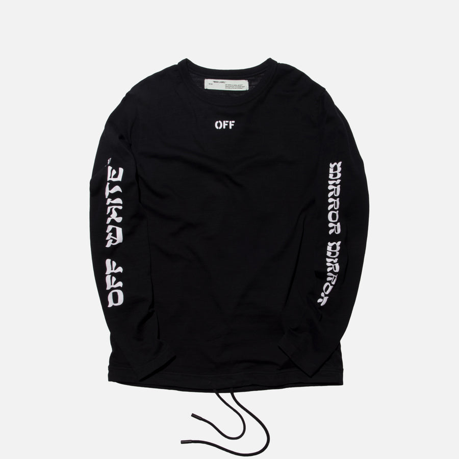 Off-White Quotes L/S Tee - Black