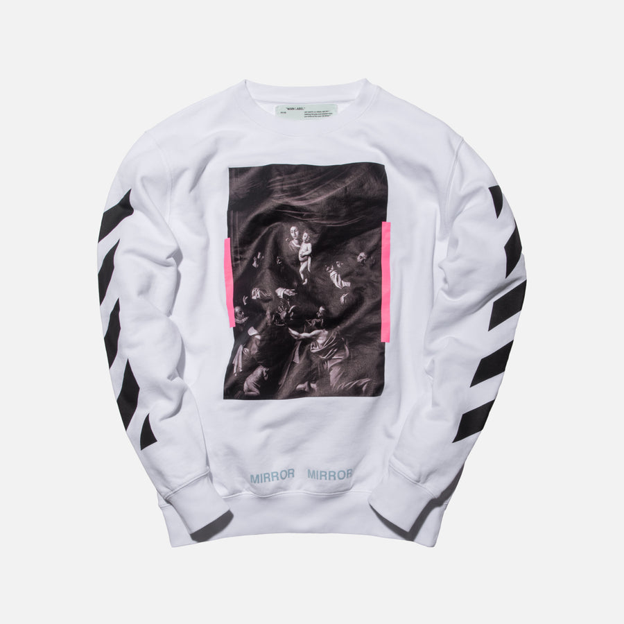 Off-White Diagonal Caravaggio Crewneck - White