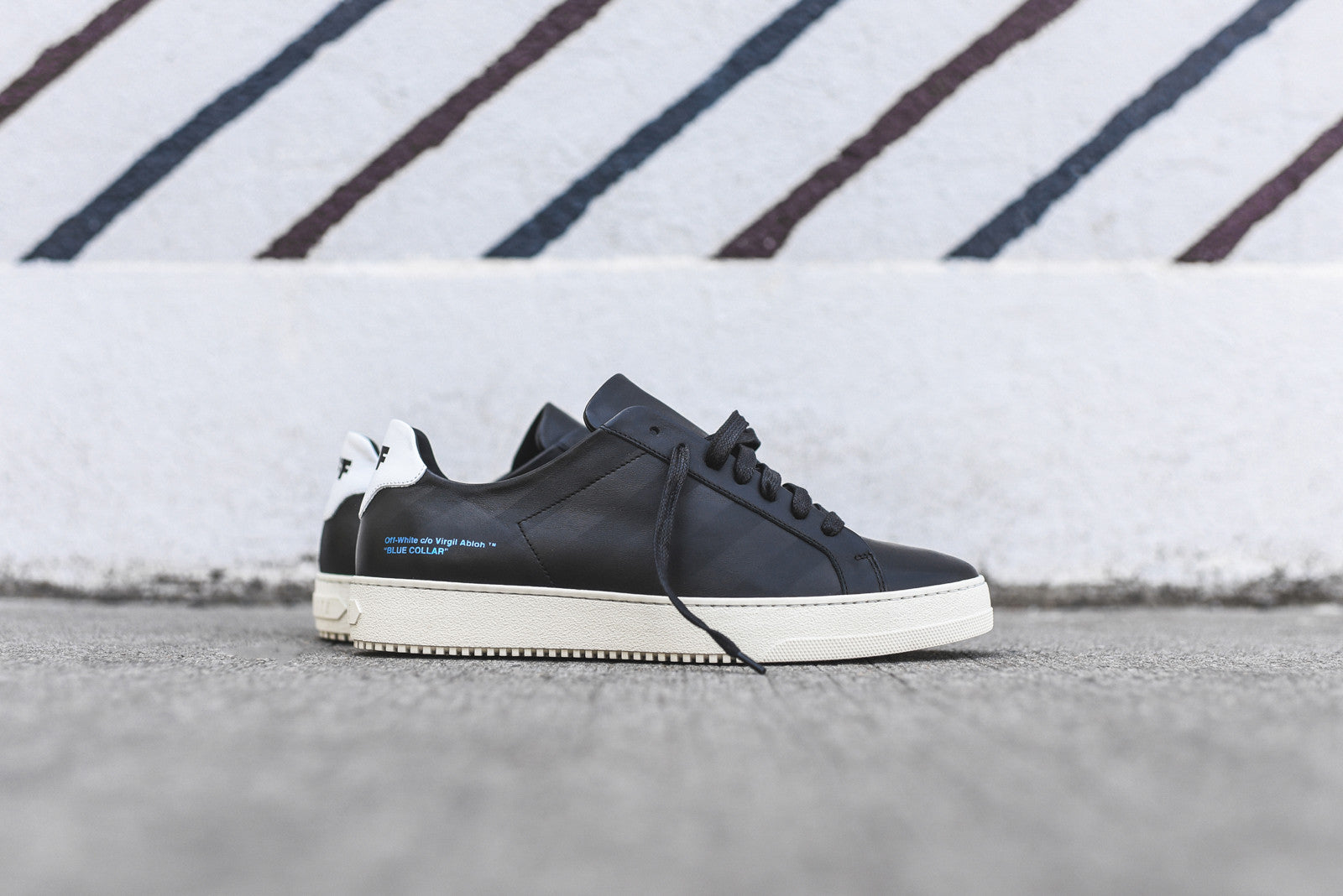 Off-White Striped Sneaker - Black