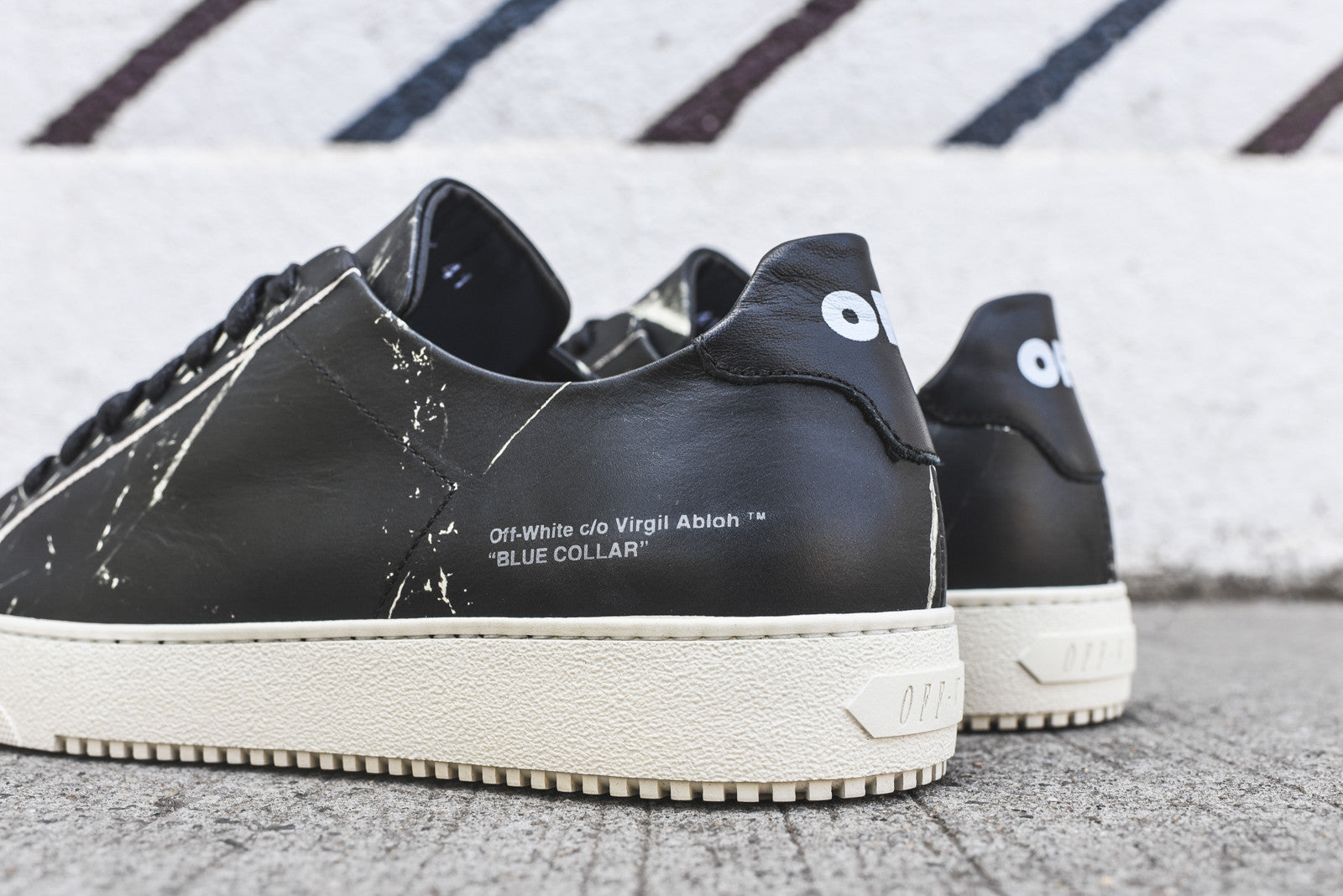 Off-White Marble Sneaker - Black