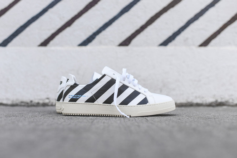 Off-White Striped Sneaker - White
