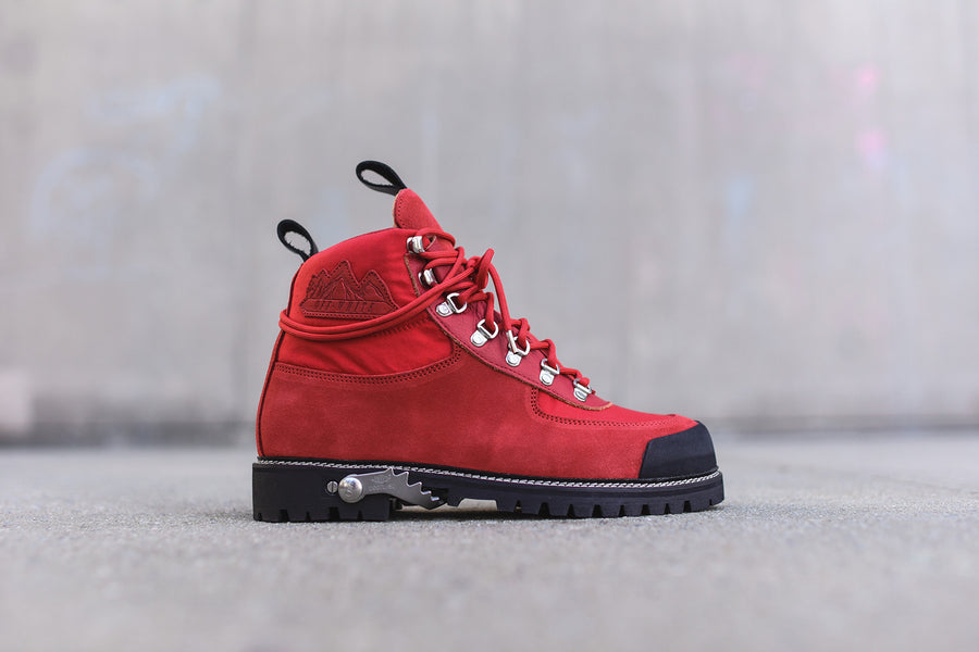 Off-White Cordura Hiking Boot - Red