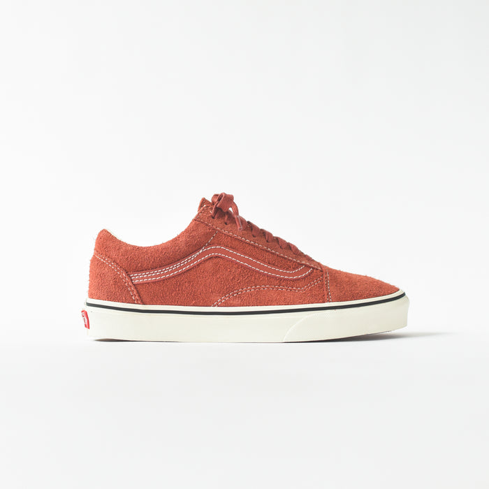 Vans Old Skool Hairy Suede - Hot Sauce / Snow White