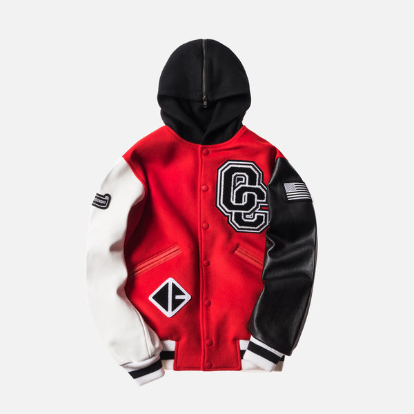 Opening Ceremony Torch Hooded Varsity Jacket Jewel - Red