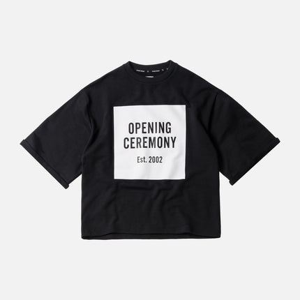 Opening Ceremony Logo Cut-Off Sweat Tee - Black
