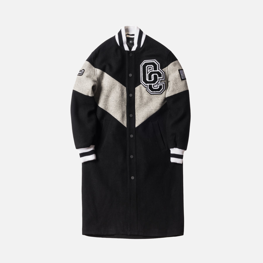 Opening Ceremony Torch Alpha Long Varsity Jacket - Black