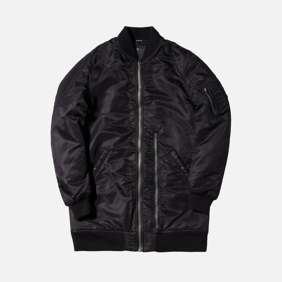 R13 Oversized MA1 Flight Jacket - Black
