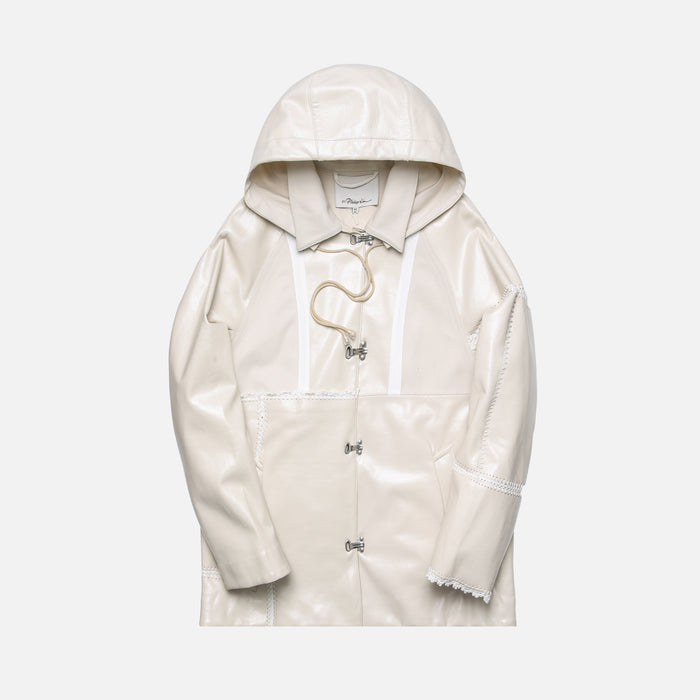 3.1 Phillip Lim Oversized Rain Jacket w Embroidery - Natural White