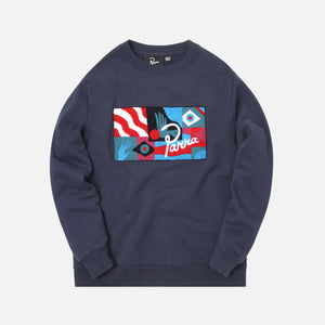 by Parra Grab the Flag Creneck Sweater - Navy Image 1