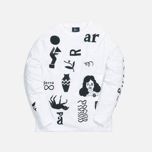 by Parra A Little Pressure L/S Tee - White Image 1