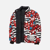 by Parra Nerveux Puffer Jacket Allover Print - Red Thumbnail 3