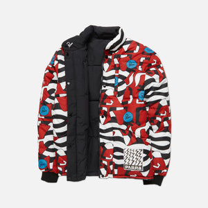 by Parra Nerveux Puffer Jacket Allover Print - Red Image 3