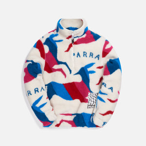 by Parra Jumping Foxes Sherpa Fleece Jacket - Off White