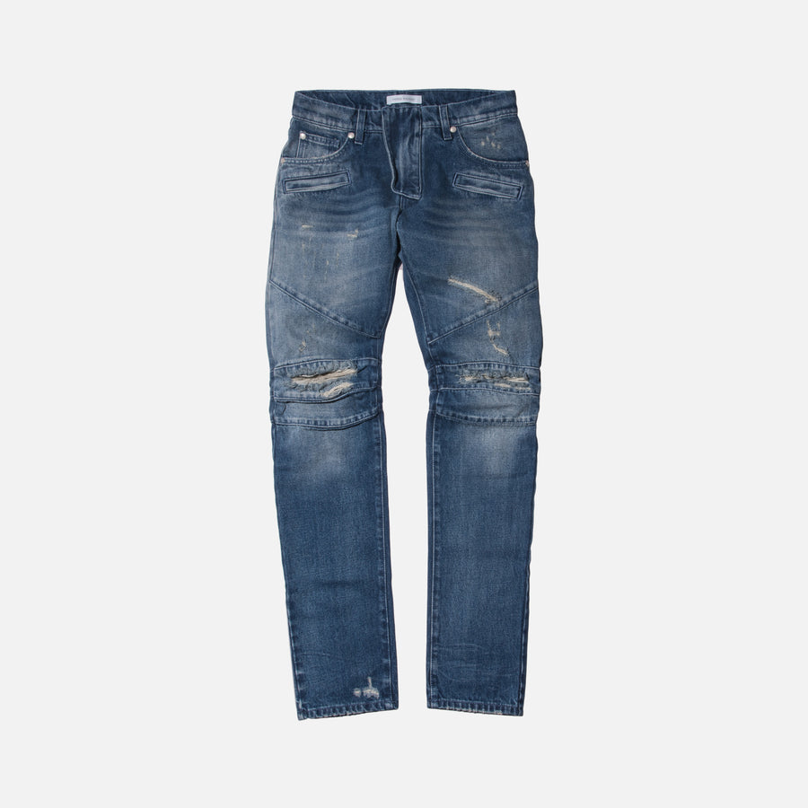 Pierre Balmain Ripped Denim - Navy