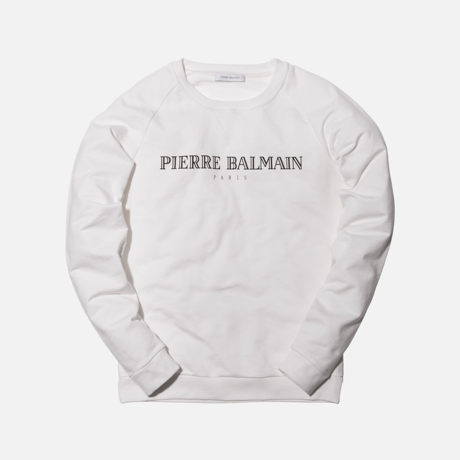Pierre Balmain Logo Crewneck - Off White