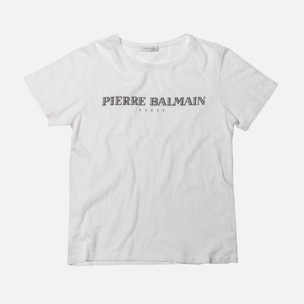 Pierre Balmain Logo Tee - Off White