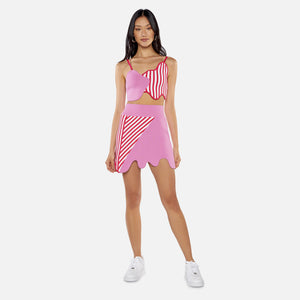 Kith Women x PH5 Striped Skirt - Mushroom Pink