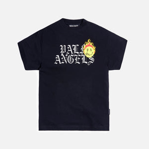 Palm Angels Burning Head Logo Tee - Black