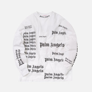 Palm Angels Ultra Logo Over Tee L/S - White / Black