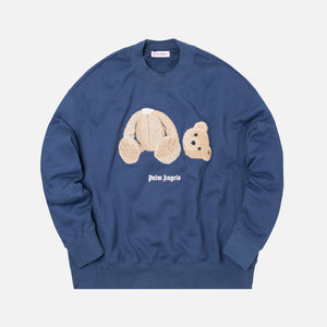 Palm Angels Kill The Bear Cropped Crewneck - Blue