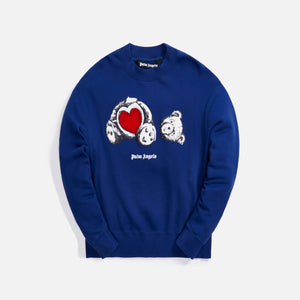 Palm Angels Bear in Love Crewneck - Navy