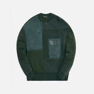 Palm Angels Patchwork Military Crewneck - Olive