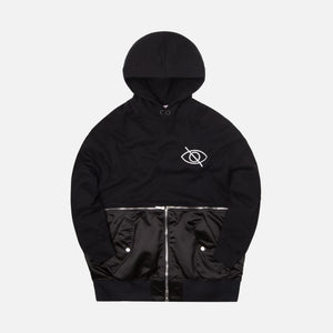 Palm Angels Hoodie Meets Bomber - Black / White