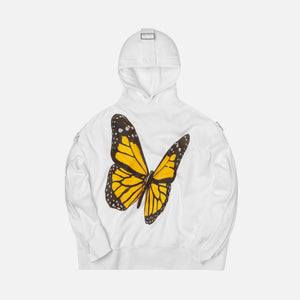 Palm Angels Tape Butterfly Hoody - Off White