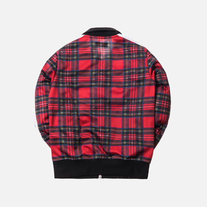 Palm Angels Royal Stewart Tartan Track Jacket - Red / White