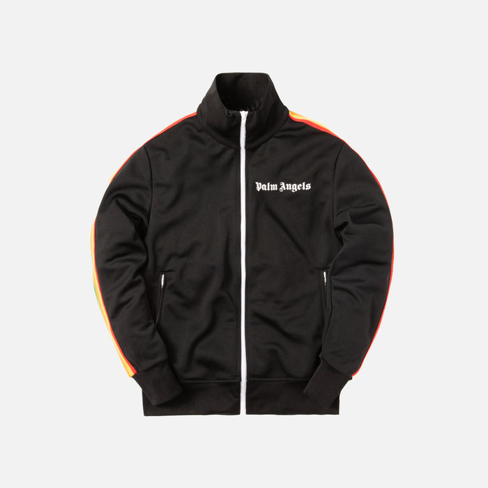 Palm Angels Rainbow Track Jacket - Black / Multicolor