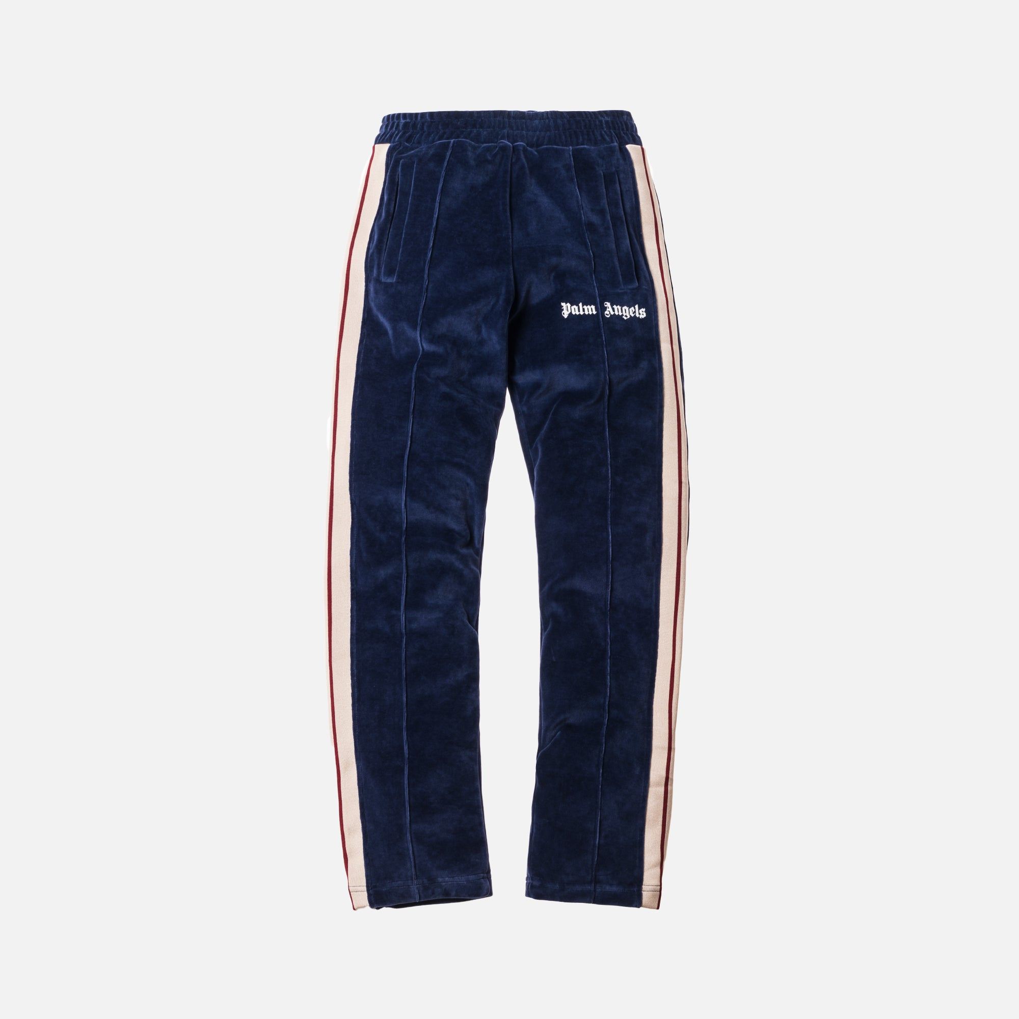 Palm Angels Chenille Track Pants - Navy Blue / White