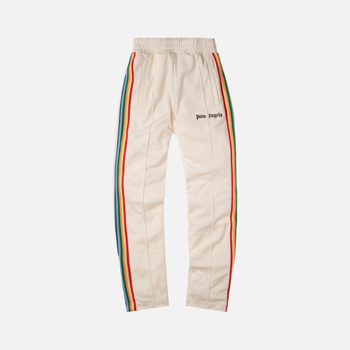 Palm Angels Rainbow Track Pants - Off White / Multicolor