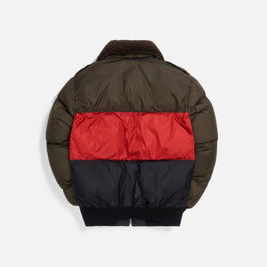 Palm Angels Desert Logo Down Jacket - Forest Green