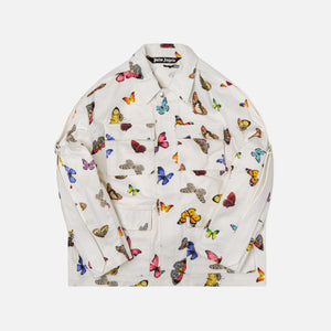Palm Angels Tape Butterflies Field Jaket - Off White