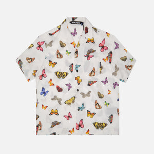 Palm Angels Butterflies Bowling Shirt - White