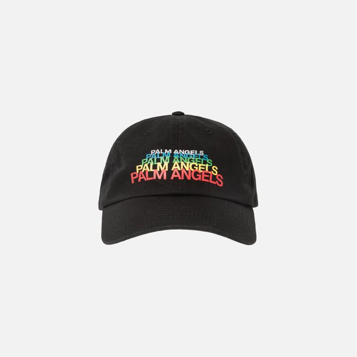 Palm Angels Rainbow Cap - Black / Multi