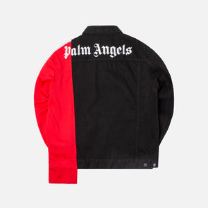 Palm Angels Bold Track Trucker - Black Wash Red