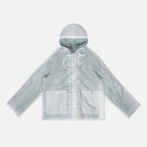 Proenza Schouler Short Lined Raincoat - Milky White / Green